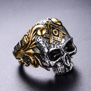Freemasonry Skull Head Ring
