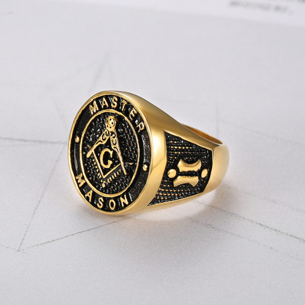 Master Mason Stainless Steel Ring