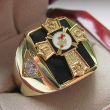 Mens Knights TEMPLAR Past Commander Crest Ring