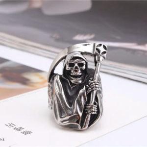 Vintage Grim Reaper Skull Ring