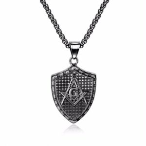 Fashion vintage Masonic necklace, Black