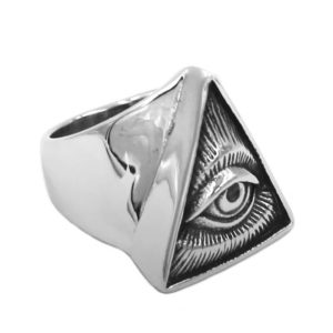 Illuminati Pyramid Eye Ring