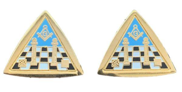 Handmade Masonic Temple & Equilateral Triangle Cufflinks