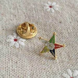 The Eastern Star Masonic Lapel Pin
