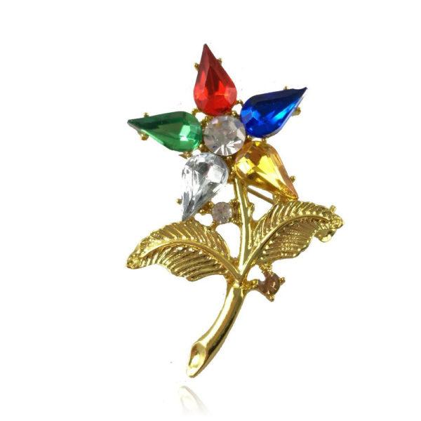 The Eastern Star Brooch crystal flower pin